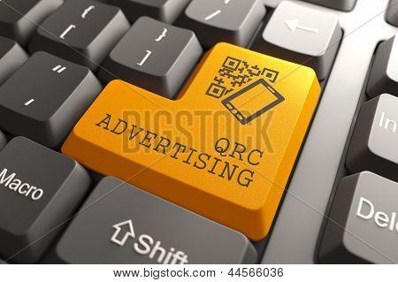 QR Code Advertising Concept.