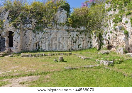 Ancient school of Aristotele in Greece