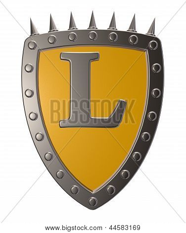 Shield With Letter L