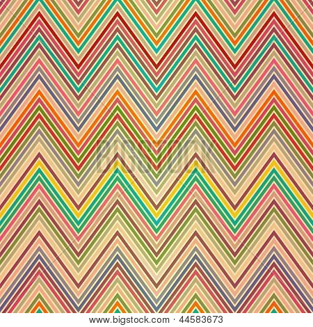 Seamless pattern of colored zigzag stripes (vector EPS 10) poster