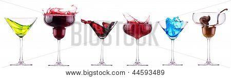 Alcoholic Cocktails Set