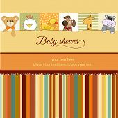 baby shower announcement card, illustration in vector format poster