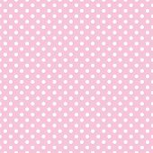 Seamless vector pattern with little white polka dots on a pastel pink background. For cards, invitations, wedding or baby shower albums, backgrounds, arts and scrapbooks. poster