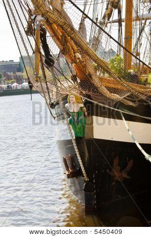Detail Of Historical Irish Tall Ship - Jeanie Johnston