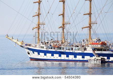 Sailing ship on the ocean