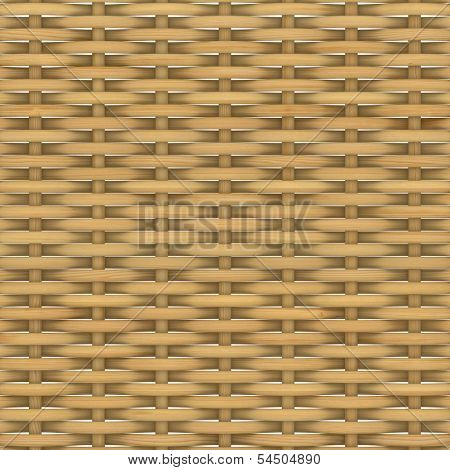 Abstract decorative wooden textured basket weaving. 3D image poster