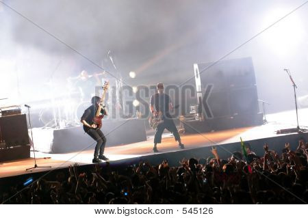 Band In A Rock Concert