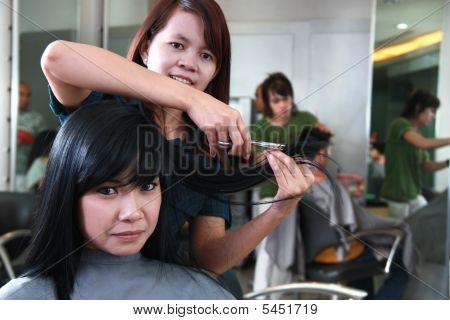 Haircut Or Hairstyle At Salon