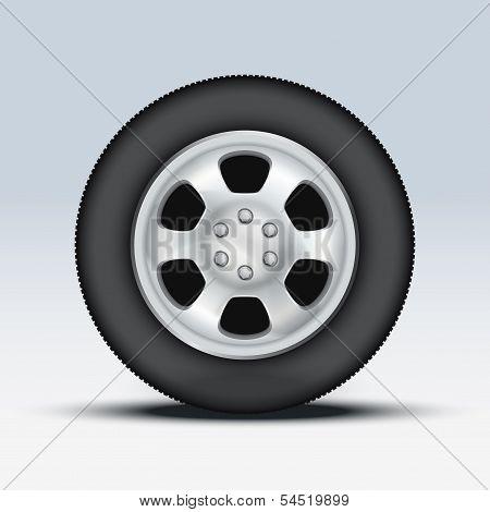 Wheel of car. Vector Illustration