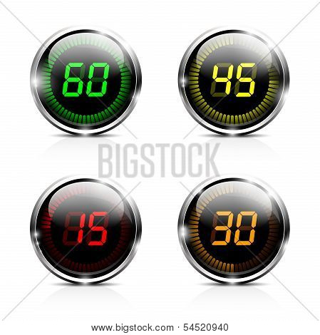 Electronic brilliant countdown timers
