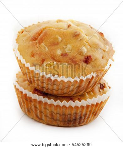 Freshly baked cornbread muffins with cheddar cheese
