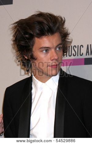 LOS ANGELES - NOV 24:  Harry Styles at the 2013 American Music Awards Press Room at Nokia Theater on November 24, 2013 in Los Angeles, CA