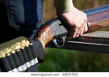Shotgun In Hand Hunter