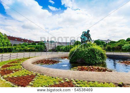 Heldenplatz Park And Fountain