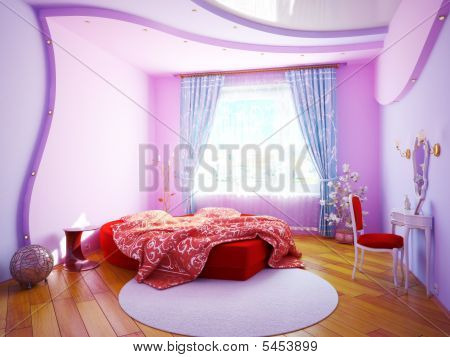 Interior Of A Bedroom For The Girl