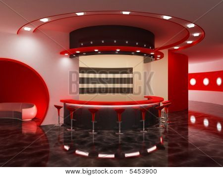 Interior Of A Modern Bar