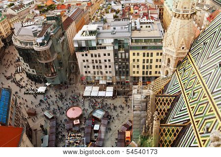 Stephansplatz Square From The Top