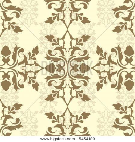 Brown Damask Wallpaper