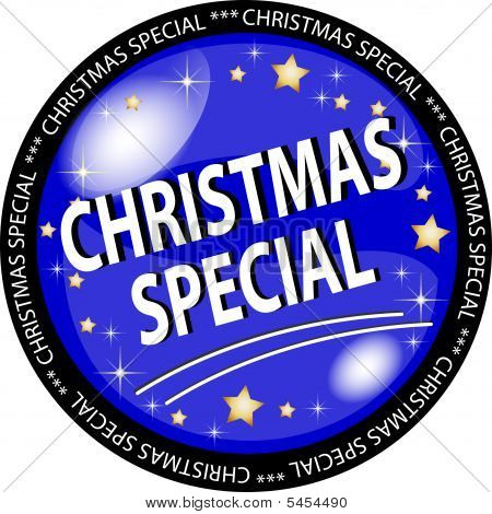 Blue Christmas Special Button