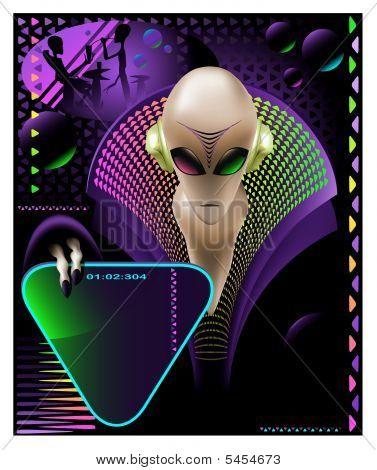 Alien Club Flyer
