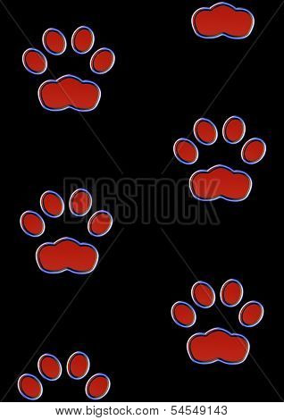 Cat print(s) in the night - Neon effect poster
