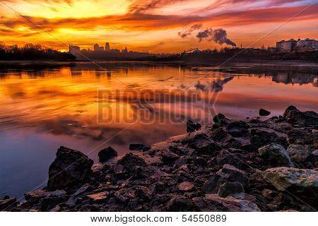 Kansas City At Sunrise