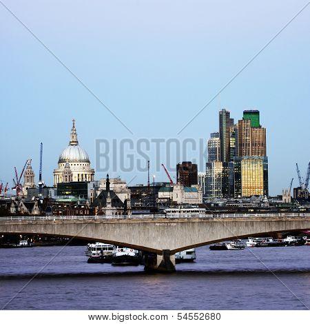 London Skyline, Waterloo Bridge