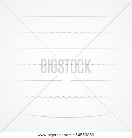 Set Of Dividers, Isolated On White Background, Vector Illustration poster