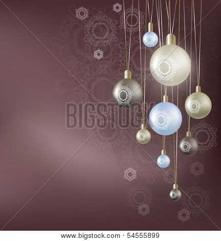 Christmas background with hanging ball