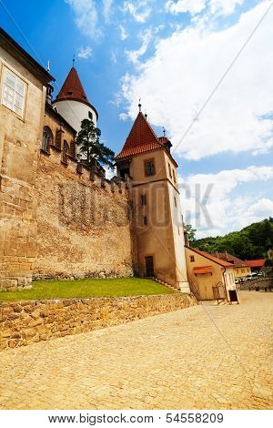 Walls And Towers Of Krivoklat Castle