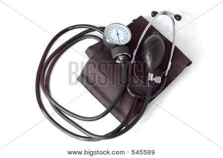 Manual Blood Pressure Monitor Medical Tool Isolated