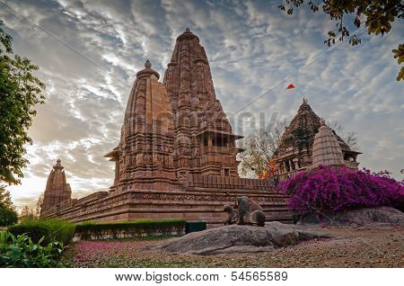 Lakshmana Temple, Dedicated To Vishnu, From Back Side, Western Temples Of Khajuraho, Madhya Pradesh,