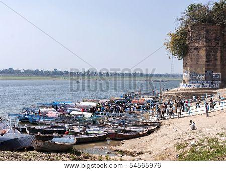 Landing For Visitors Of Confluence Of Ganges