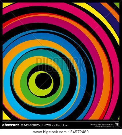 Abstract Colorful Circles Background Vector.