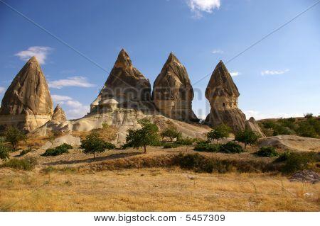 The View Of Cappadocia, Goreme, Turkey, Phallic Mountains