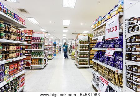 KUALA LUMPUR, MALAYSIA - JUNE 16: SOGO Supermarket, June 16, 2013 in Kuala Lumpur, Malaysia. SOGO founded in November 11, 1987, is a comprehensive department store business units