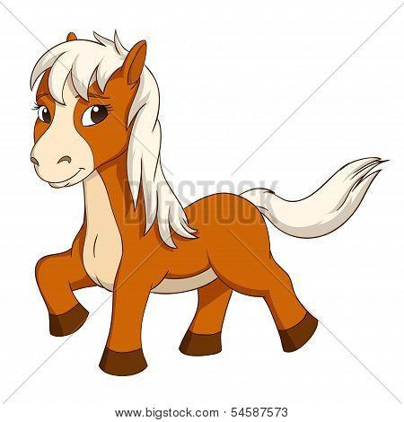 Cartoon Cute Little Horse