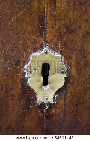 Keyhole Of Old Doorlock 9