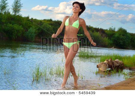 Woman Runs On Water