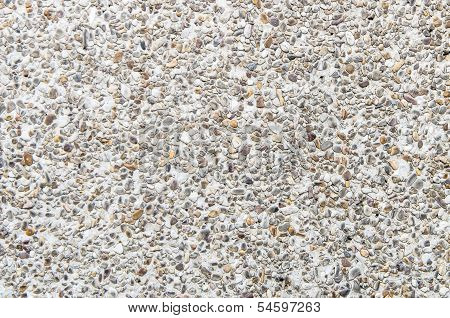 The Pebble Concrete Floor Use As Texture Background