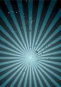 grunge abstract background with ink splats and radiating design poster