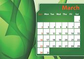 Colorful abstract background 12 months 2014 Calendar poster