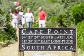 Pathway in the cape town leading to Cape point lighthouse poster