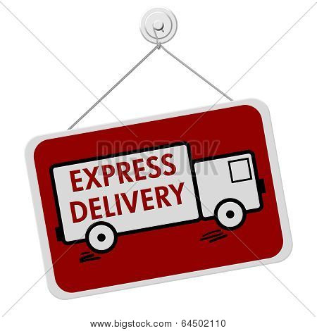 Express Delivery Sign