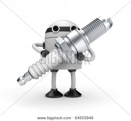Robot with sparkplug
