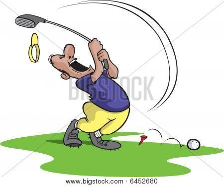 Goofy golfer