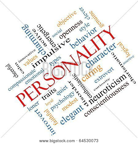 Personality Word Cloud Concept Angled