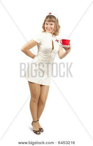 Nurse With Cup