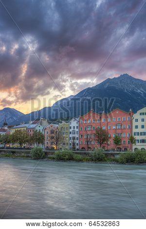 Mariahilf Street In Innsbruck, Austria.