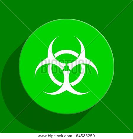 virus green flat icon poster